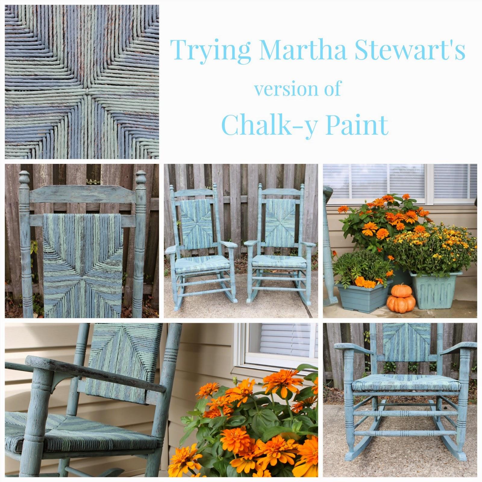 Trying Martha Stewartu0027s Chalk Y Paint