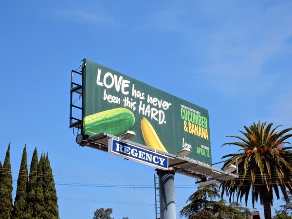 Cucumber and Banana billboard Sunset Strip