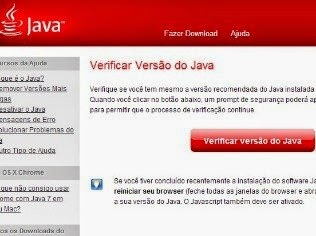 Site permite verificar versão do Java