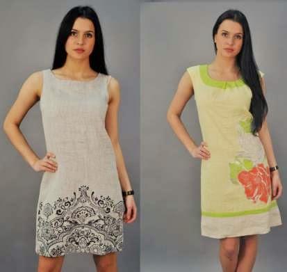 Натуральная женская льняная одежда оптом