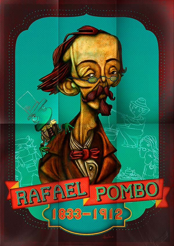 Rafael Pombo por Hache Holguín