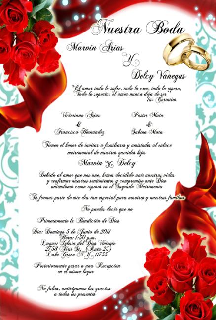 Tarjeta de Invitación Novedosa de Boda Turquesa Rojas Rojas y Anillos