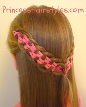 5 strand ribbon braid