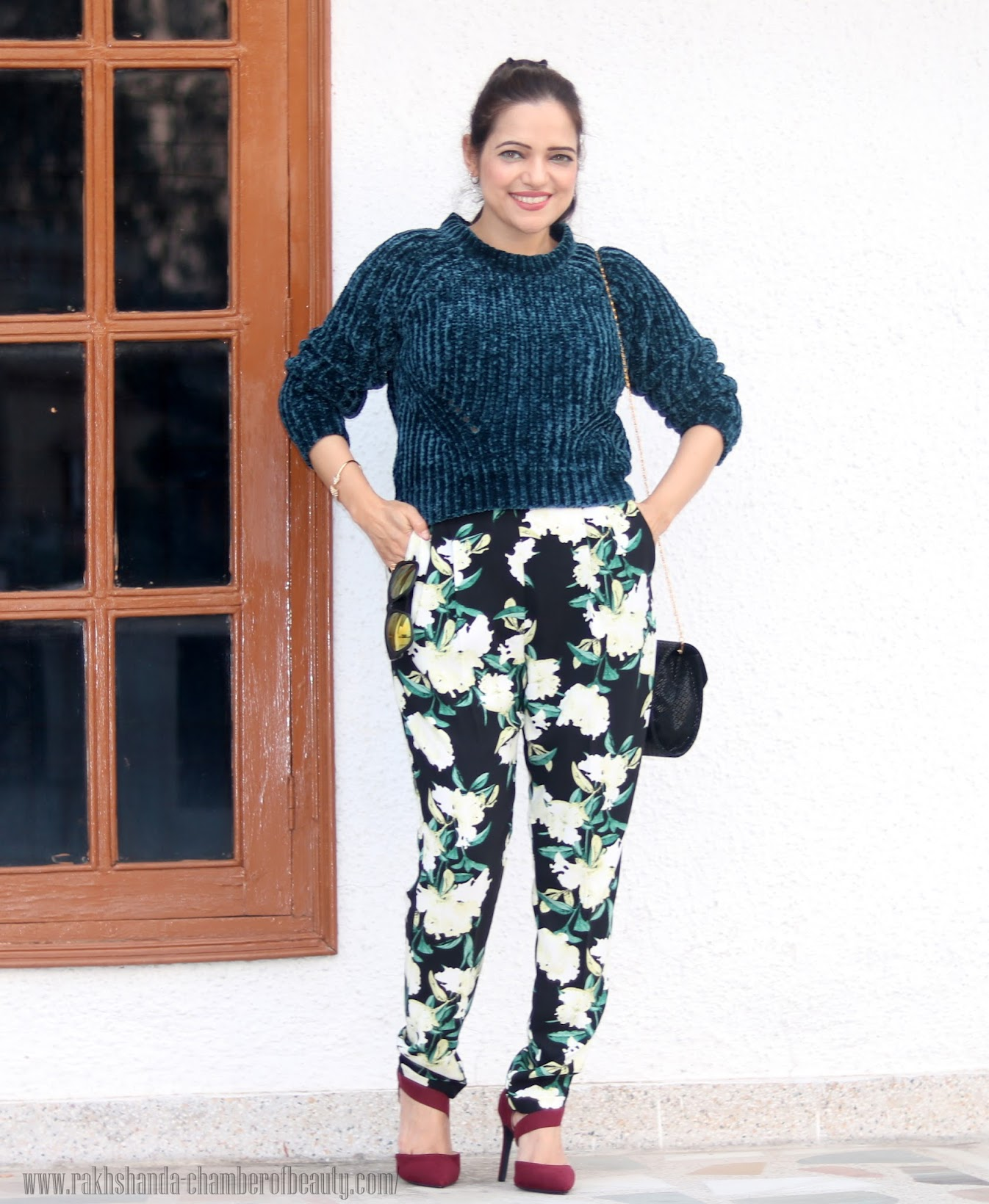 Celebrating AW15 with Jabong.com | How to wear cropped sweater, featuring Dorothy Perkins & Miss Selfridge, affordable autumn fashion, Amiclubwear heels, Indian fashion blogger, Chamber of Beauty