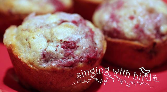 Raspberry Sugar Muffins