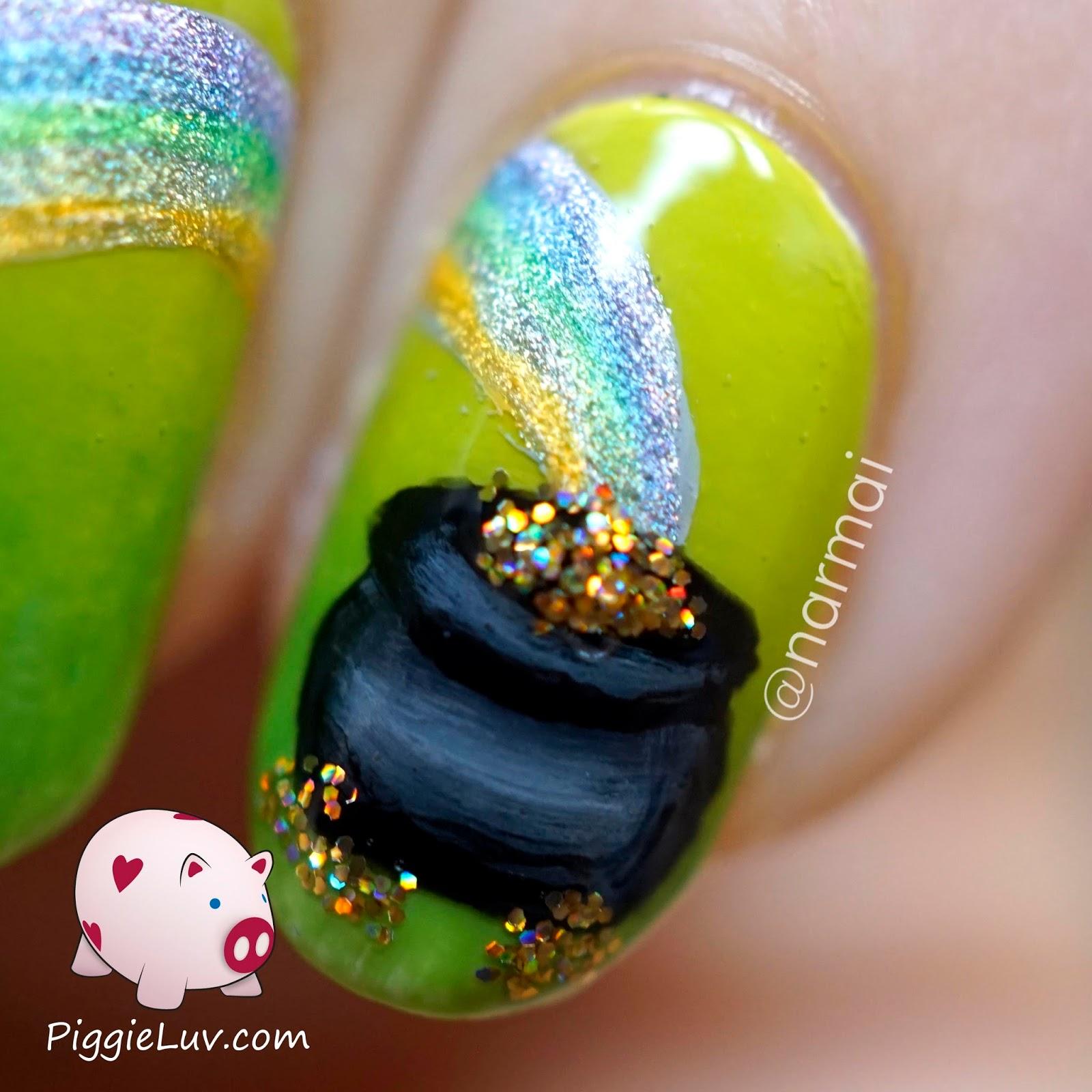 PiggieLuv: St. Patrick\'s Day nail art - HPB linkup