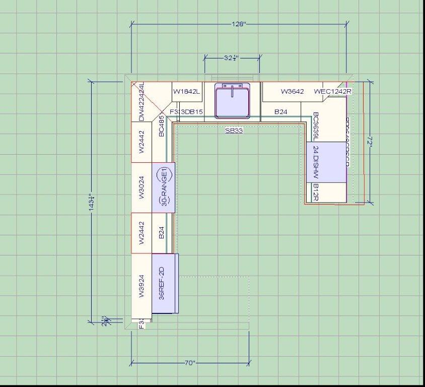 Kitchen layout planner luck interior Blueprint designer free