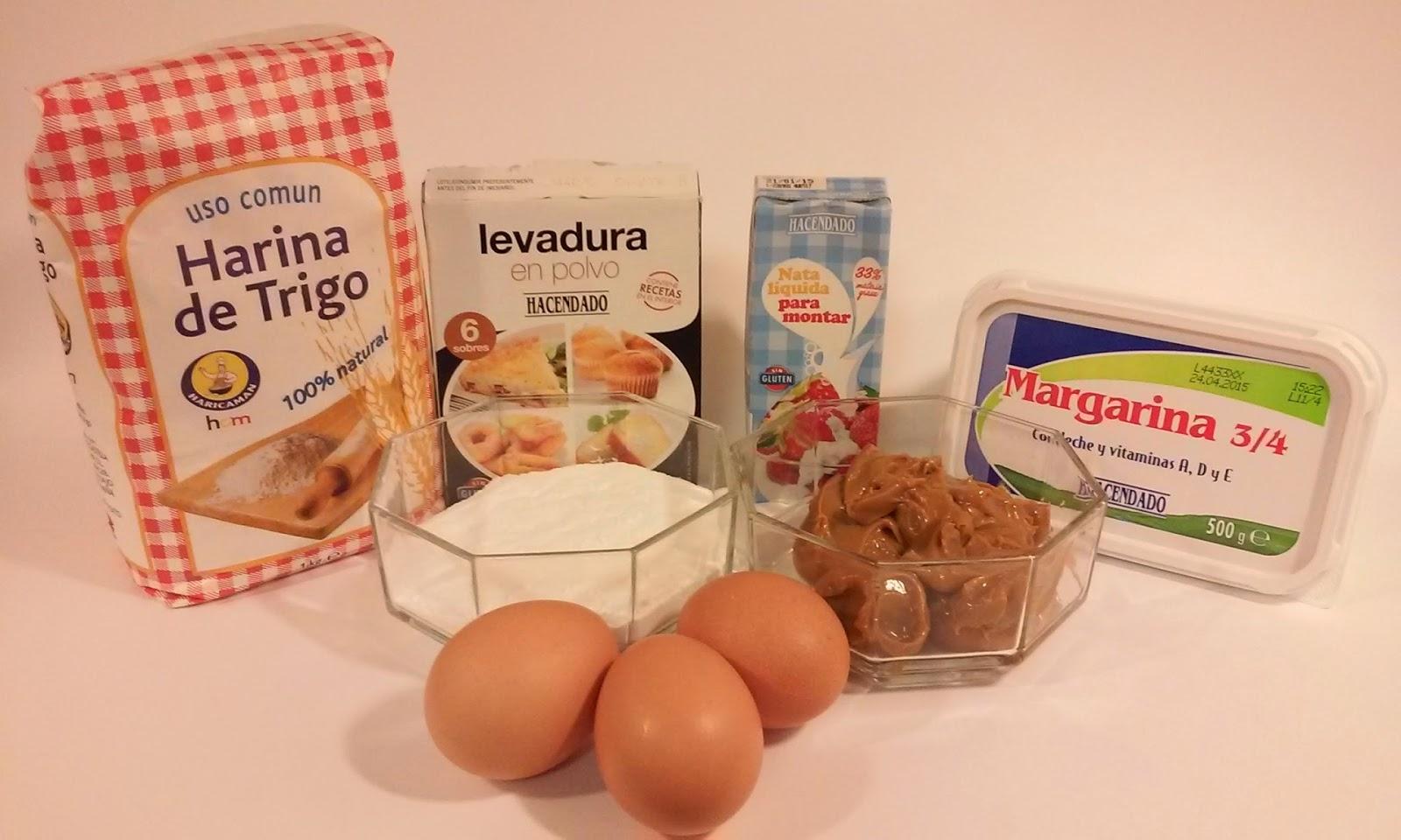 Ingredientes bizcocho dulce de leche