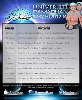 Tentatif Universiti Ramadhan -jalantubik.blogspot