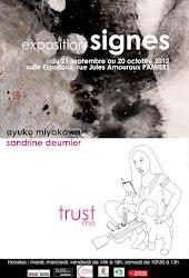 L'affiche de l'exposition Signes