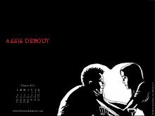 Fonds d'écran de février 2013, avec et sans calendrier (éditions Des ronds dans l'O)
