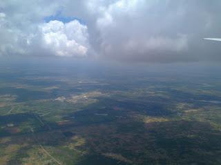 Downwind leg into Harare International Airport, Zimbabwe