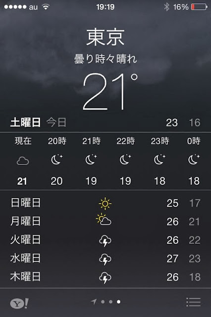 iPhone4S iOS7 天気