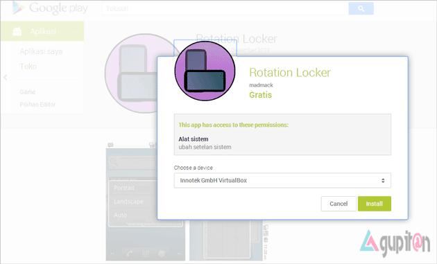 Cara Memutar Memutar Layar VirtualBox Android Emulator