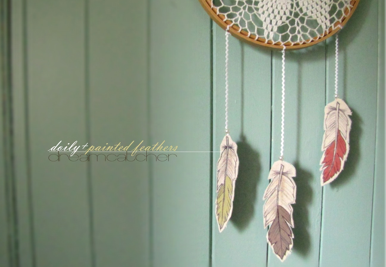Needle And Nest Design D I Y Doily Painted Feathers