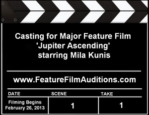 Jupiter Ascending Casting Calls Auditions