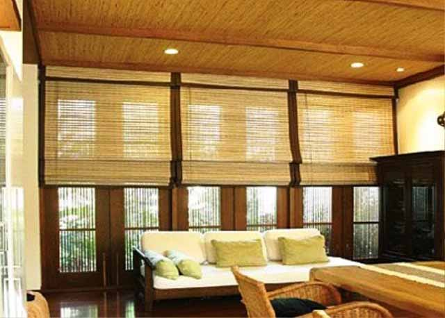 Bamboo Architecture & Home Design Ideas: Wooden Living Room With