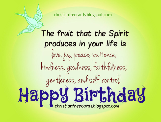 Card Happy Birthday with Love Peace Joy – Christian Birthday Verses for Cards