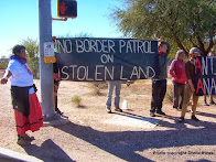 O'odham and Anarchists Protest Border Patrol on Thanksgiving