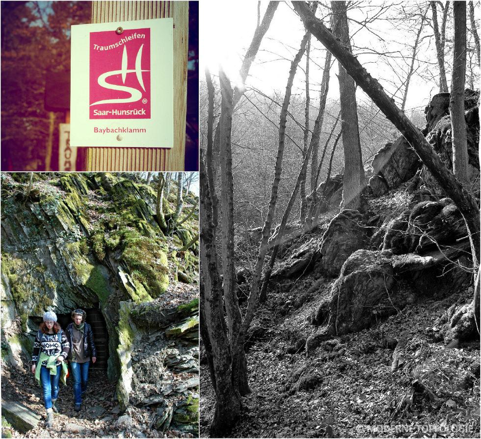 Impressionen von der Wanderung auf der Traumschleife Baybachklamm im Hunsrück bei Kastellaun.