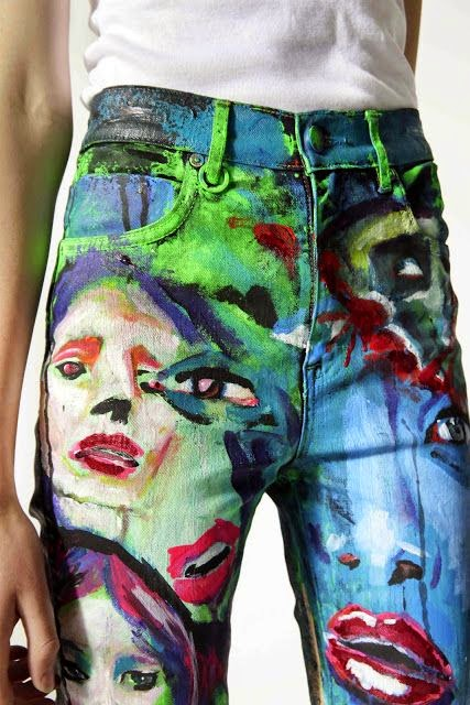 Painted Jeans!