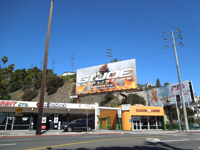 GI Joe Retaliation movie billboard