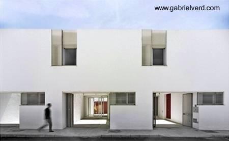 Proyecto de viviendas sociales casas adosadas en España