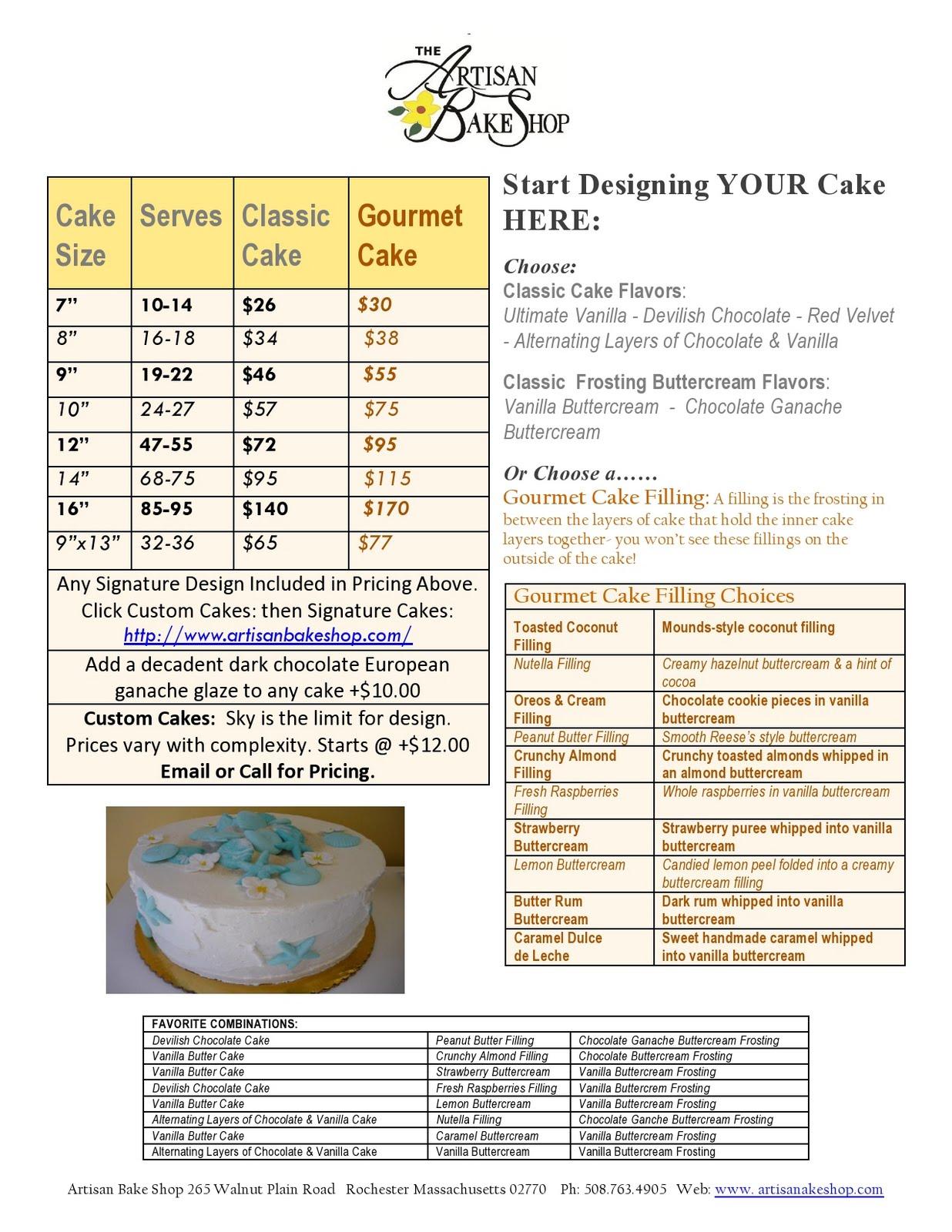 artisan bake shop 2011 cake cupcake vintage cake pricing