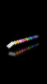 Rainbow Legos iPhone 5 background free download