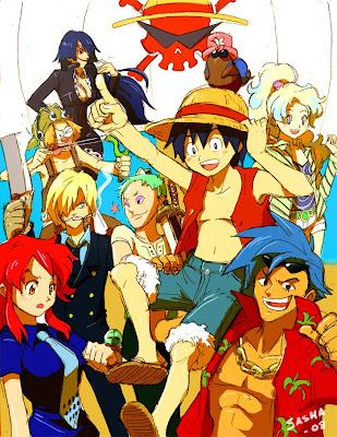 Karakter Kartun Bergaya One Piece