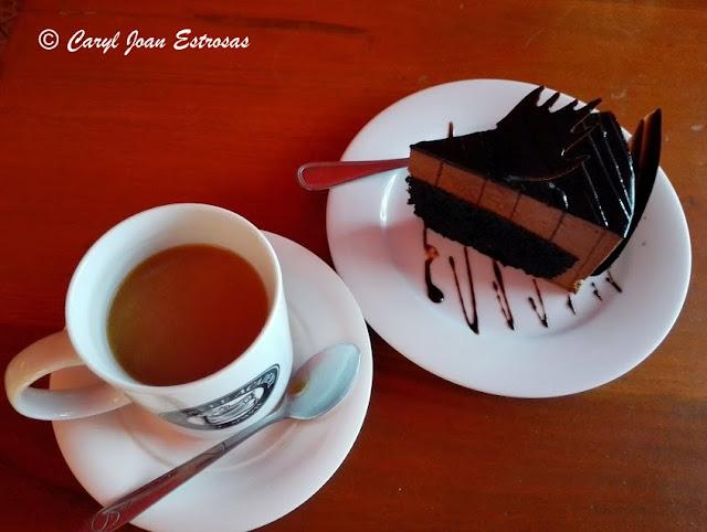 Coffee and chocolate cake @ Coffee Academy, Angeles City