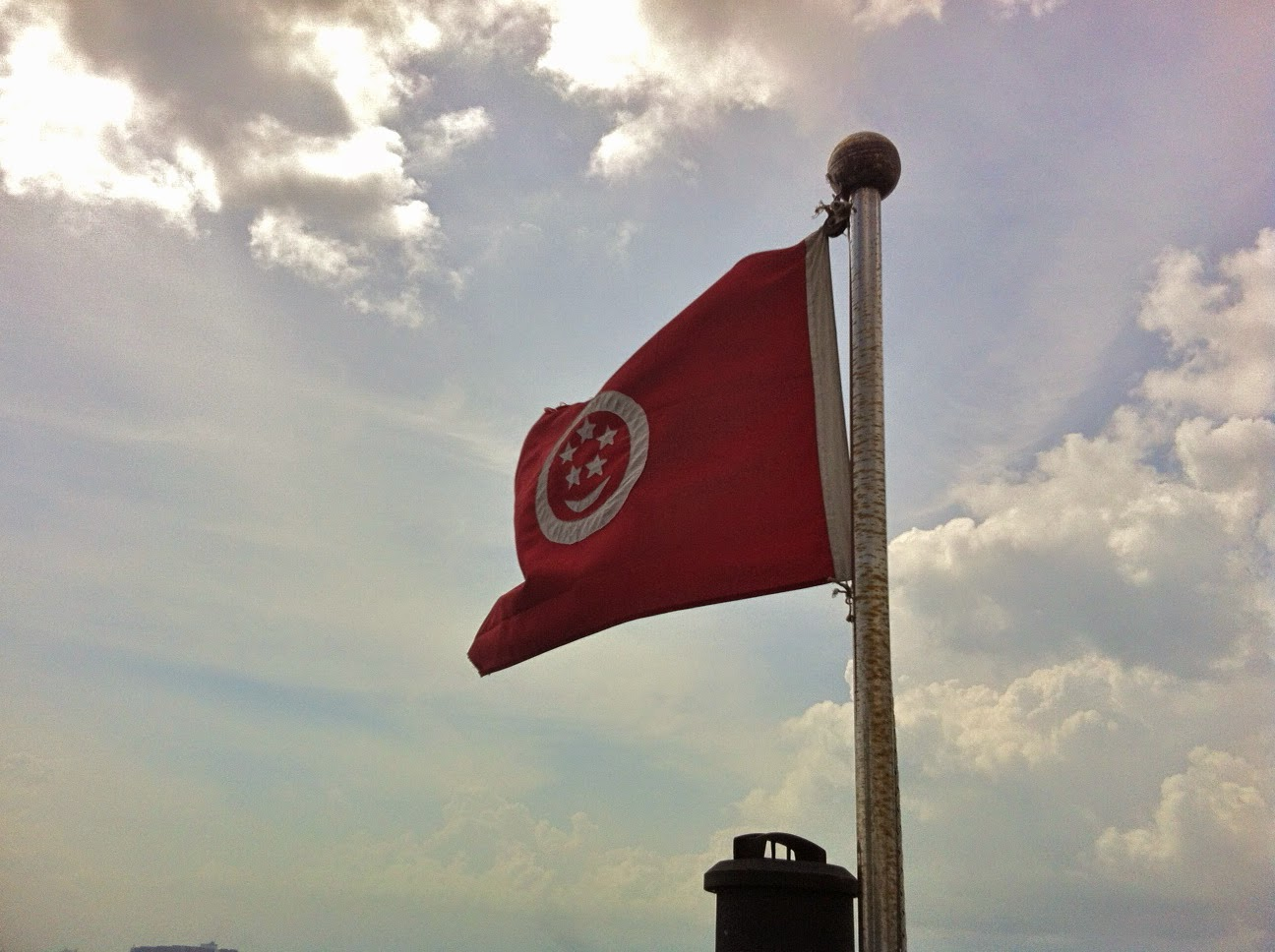 Imperial Cheng Ho boat singapore flag