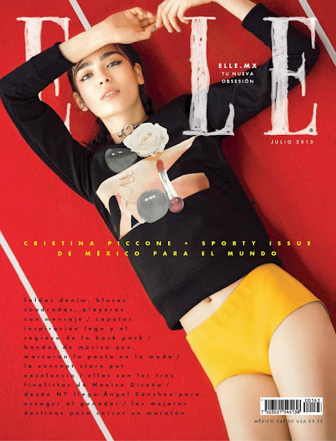 Model @ Cristina Piccone - ELLE Mexico, July 2015