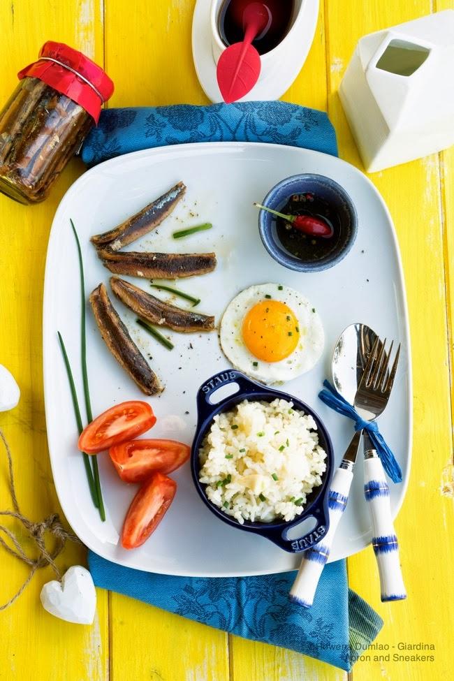 Dried Herring Fried Rice Egg Tuyosilog A Philippine Breakfast