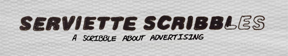 Serviette Scribbles | A scribble about advertising