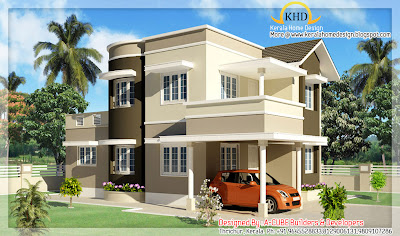 Duplex House Elevation - 149 square meter (1600 Sq.Ft) - November 2011