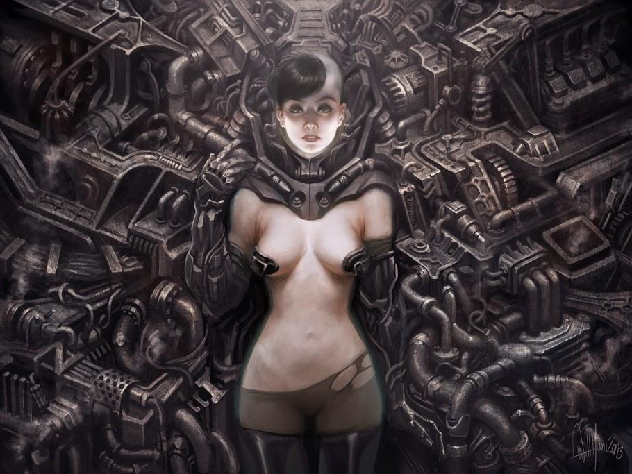 illustration de Will Murai représentant une femme dans une machine