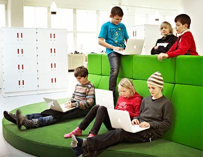 Sekolah Modern Swedia Siswa Bergerak Bebas