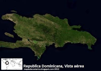 Mapa de Republica Dominicana, vista aérea