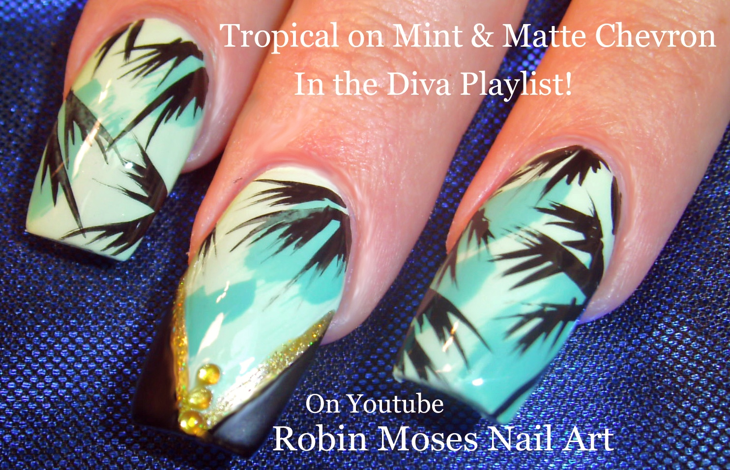 Robin moses nail art tropical trendy teal nails to try summer tropical trendy teal nails to try summer nail art to celebrate the sun prinsesfo Image collections