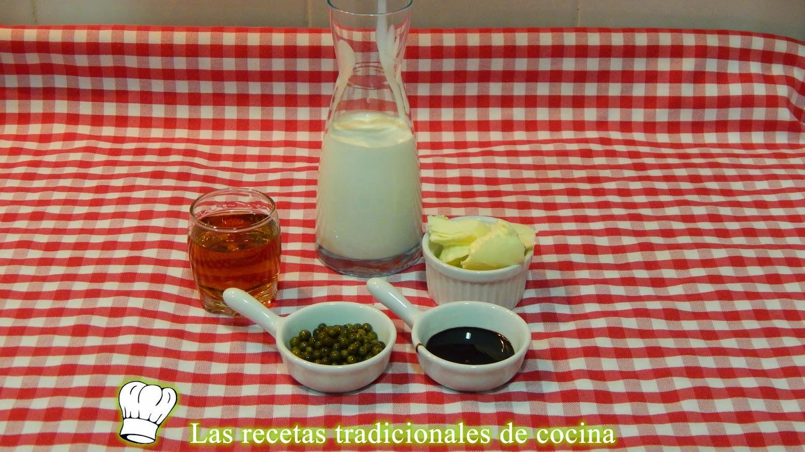 Receta de salsa de pimienta verde