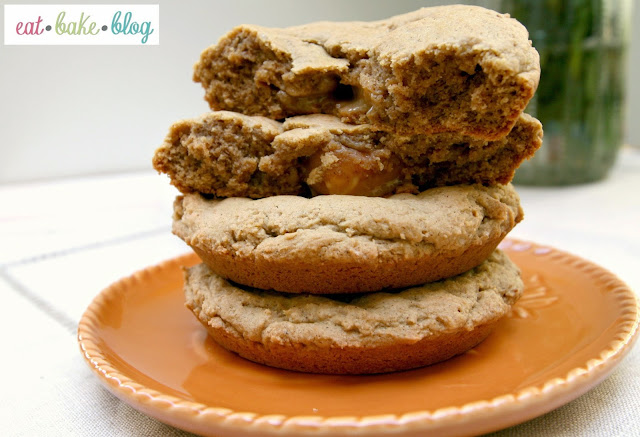 caramel pumpkin spice maple cookies