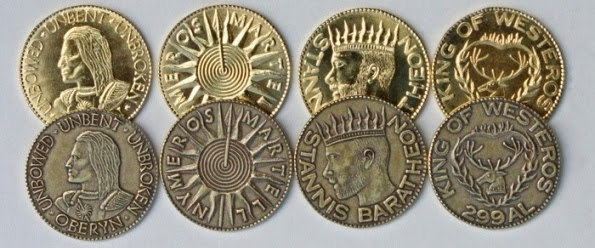 Game of Thrones Metal Coins