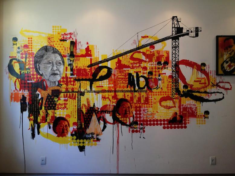 CHENCHEN = Cabaio + Domingas / pintura e desenho mural (2013)