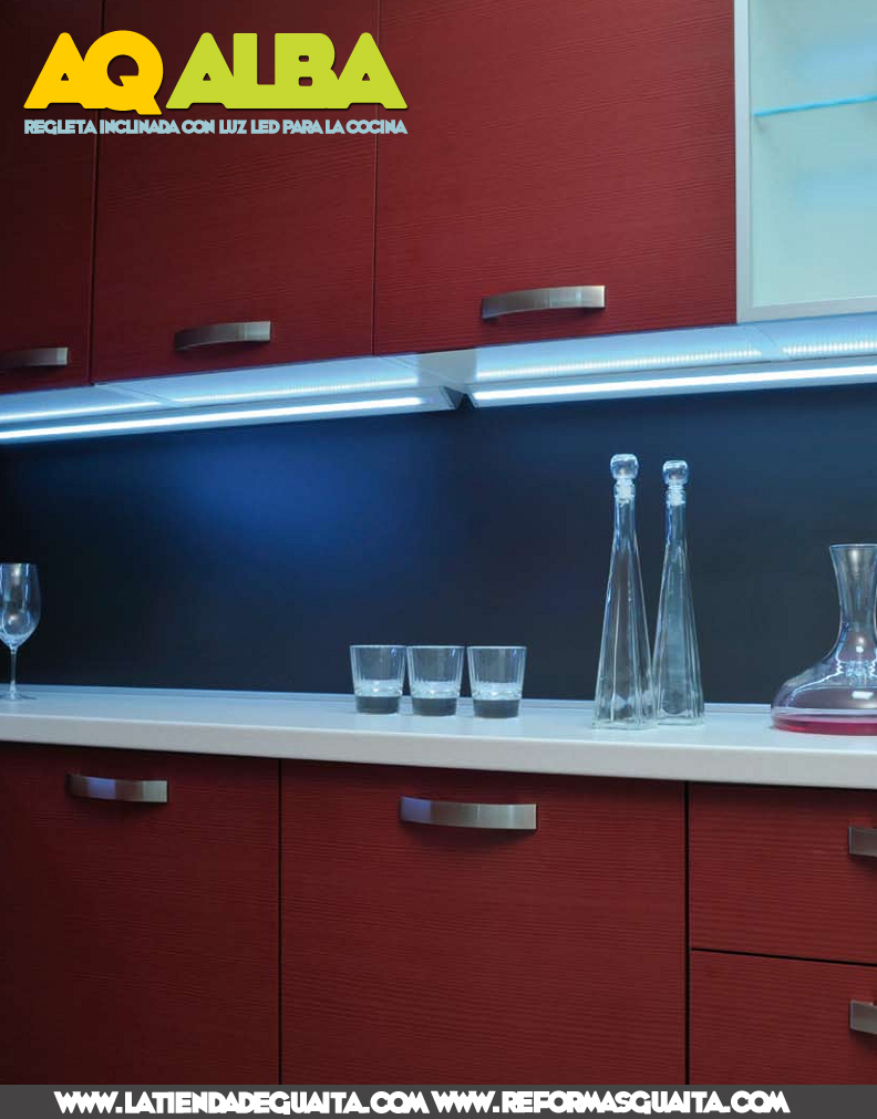 Alba otra regleta led para la cocina sin transformador reformas guaita - Led para cocina ...