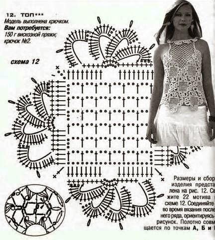 Вязание крючком кофт и маек схемы 878