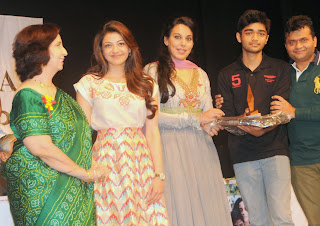 Actress Kajal Agarwal Latest Pictures at Felicitate Chidren NGO Alert India 32