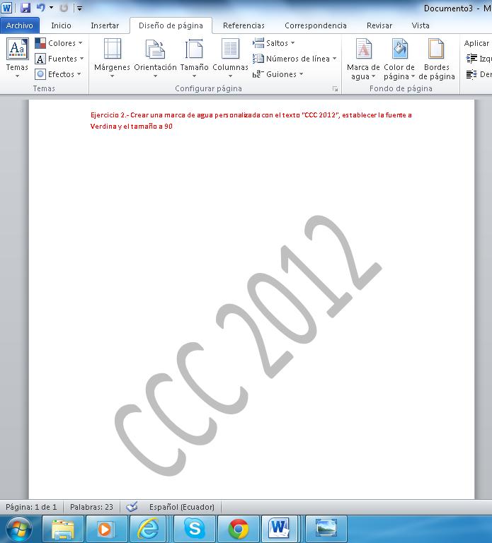 Word 2012 Ejercicios resueltos