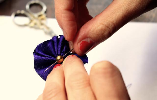 sewing dupioni silk hair accessory- Wish List- Catherine Masi