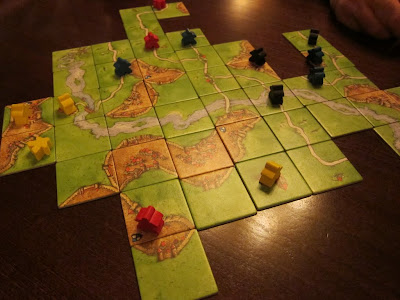 Carcassonne - The tile layout early in the game